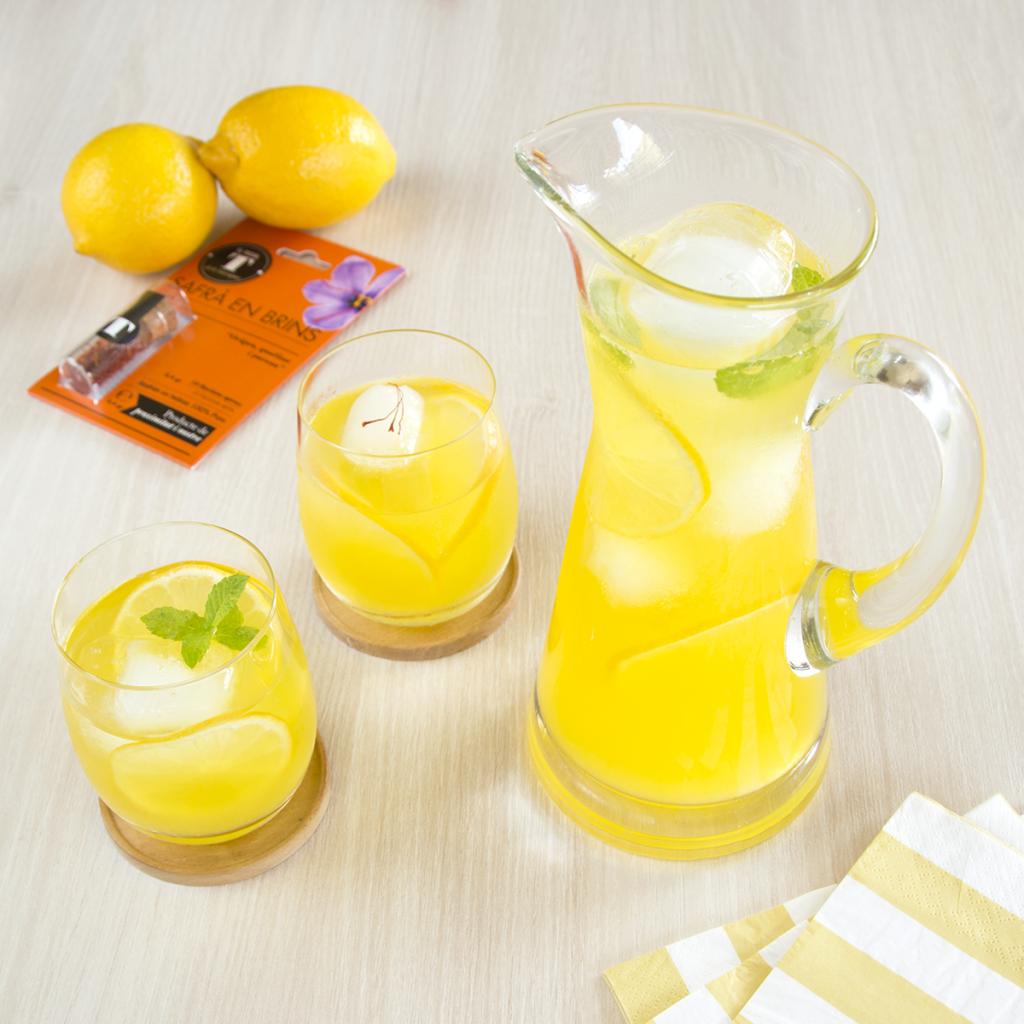 limonada al azafrán